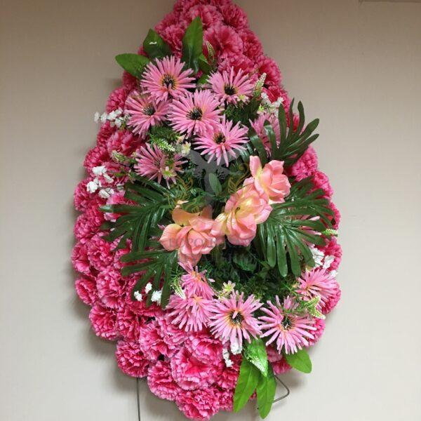Венок Венеция, розовые цветы