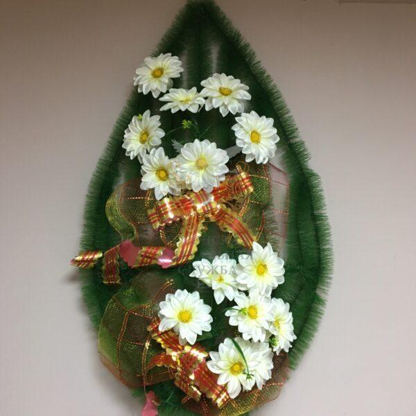 Венок Георгины, белые цветы