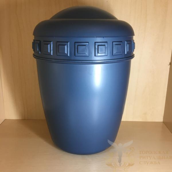 Урна для праха пластиковая голубая