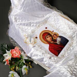 Покрывало в гроб с иконой