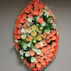 Венок ритуальный большой красивый Флора