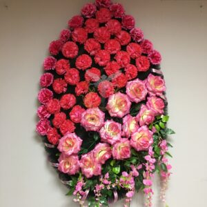 Венок Ветка Акации, розово-красный